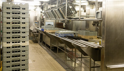 Dishwashing Area Of Commercial Kitchen